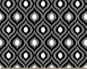 06339 -  Springs Creative Products Quilting Basics Ikat in Black color - 1 yard