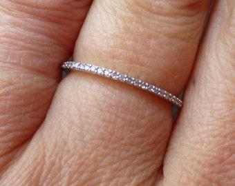 Pave set diamond band....wedding band.....engagment ring...stacker band
