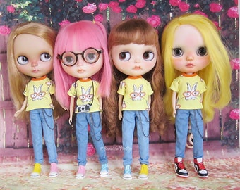 Blythe : Yellow Rabbit & Denim Jeans