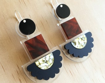 Night Totem Drops - Laser Cut Drop Earrings - Each To Own