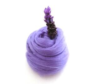 Lilac Tussah Silk Top, Lilac Purple Tussah Silk, 1oz Lilac Silk, Purple Tussah Silk for Felting, Lilac Silk Top, Silk Top, Nuno Felting Silk