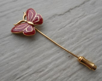 Vintage  BUTTERFLY PIn. Hat Pin. . 1970s Vintage.