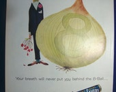 Vintage Magazine Original Promo Ad 1960's Life Savers .... behind the 8-Ball - Great for Framing