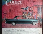 Vintage Magazine Original Promo Ad 1960's Mercury Comet - Great for Framing