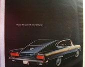 Vintage Magazine Original Promo Ad 1966 Rambler American MARLIN - Great for Framing