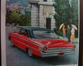 Vintage Magazine Original Promo Ad 1960's Ford 63 1/2 Galaxie - Great for Framing