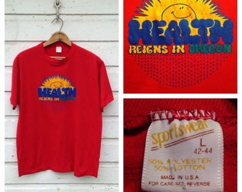 1980's Health Reigns In Oregon t-shirt, large