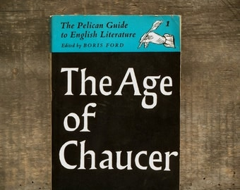 Vintage 1960s book The Age of Chaucer Volume I of the Pelican Guide to English Literature