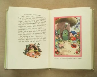 Playworn Noddy book Noddy Gets Into Trouble by Enid Blyton 1960s vintage children's book illustrated by Mary Brooks