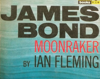 1960s James Bond Moonraker book vintage Ian Fleming paperback book