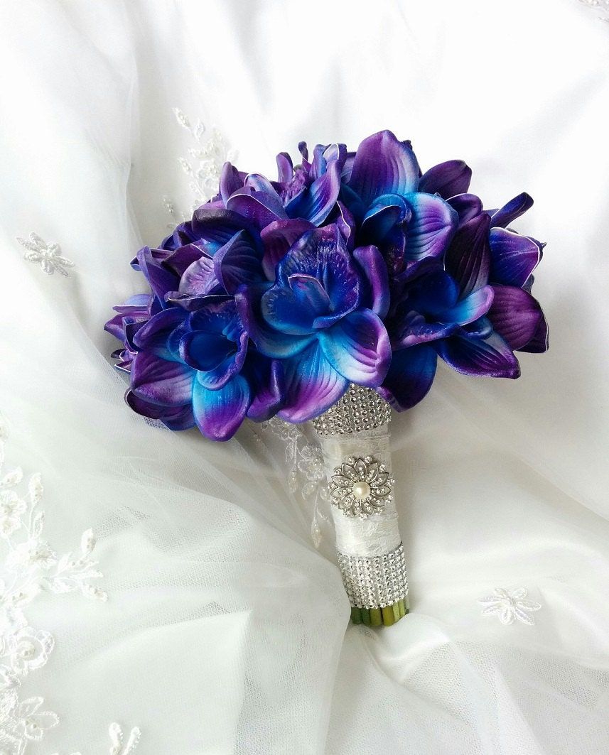 Names Of Purple Flowers For Wedding: Wedding Natural Touch Blue Purple Dendrobium Orchids Wedding