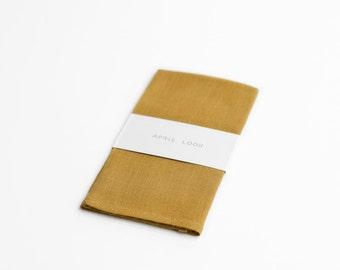 Yellow ochre handkerchief for men