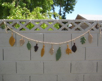 Custom Leaf Woodland Fall Garland