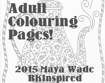 Zendoodle Zentangle Coloring Page Pdf