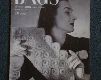 "Vintage Booklet ""Bags"" Book # 219 Copyright 1945"