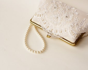 Add-On Detachable Swarovski Crystal pearls Handle Strands for Silver frame or Antique brass - Vintage-Inspired