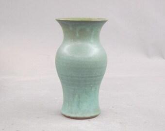 Vase in Matte Copper Green Glaze