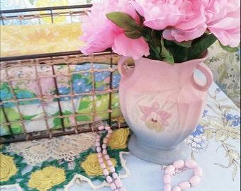 Vintage Pink Hull Vase