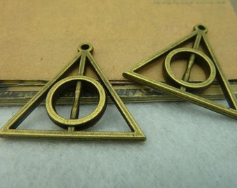 10pcs 32x32mm The Harry Potter  Antique Bronze Retro Pendant Charm For Jewelry Bracelet Necklace Charms Pendants C3801