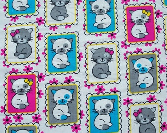 C182 - 148cmx100cm Cotton Woven Fabric - lovely cats