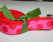 D Ring Polka Dot Girls Belt Hot Pink Girls Belt Girls Red and Pink Belt Preschool Belt Velcro Belt Girls Ribbon Belt Preppy POlka Dot Belt
