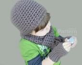 Beanie / Scarf / Kid Mitts Set for Preschool Age - Crochet PATTERN PDF 4521