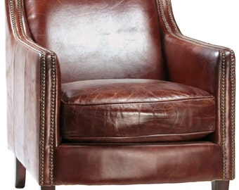 Library Leather Club Chair