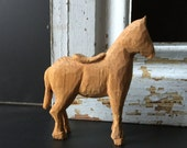 Darling tiny hand carved wooden horse saddle vintage collection barn ranch cottage decor home and living adorable janazjunque