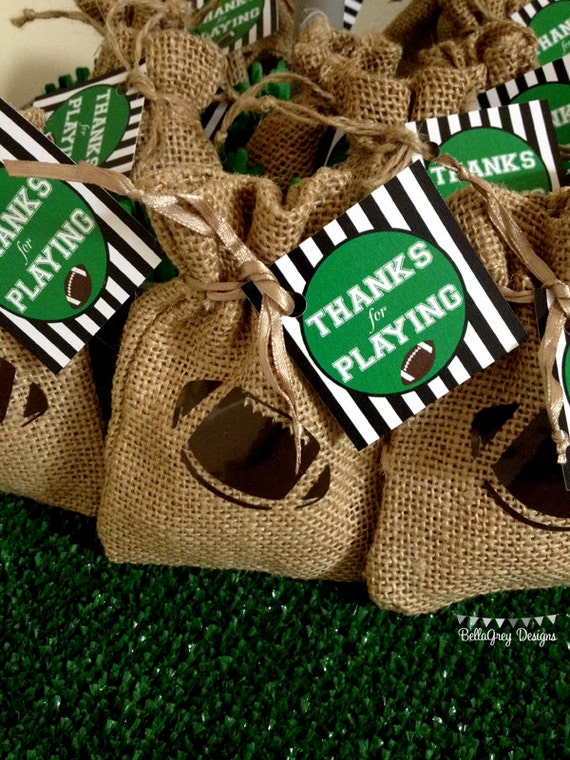 favor tags for Football Party by BellaGrey Designs