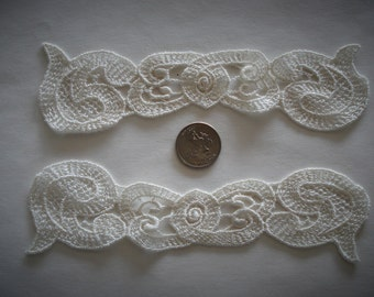 Venice Lace Appliqués Off White Color.