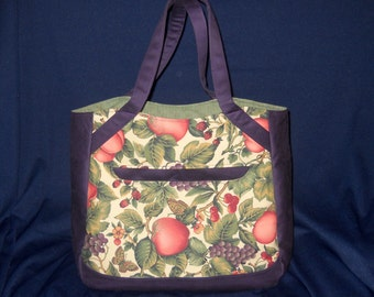 Handmade Fabric Tote Bag, Alice Tote, Large Tote Bag, Swoon Patterns,