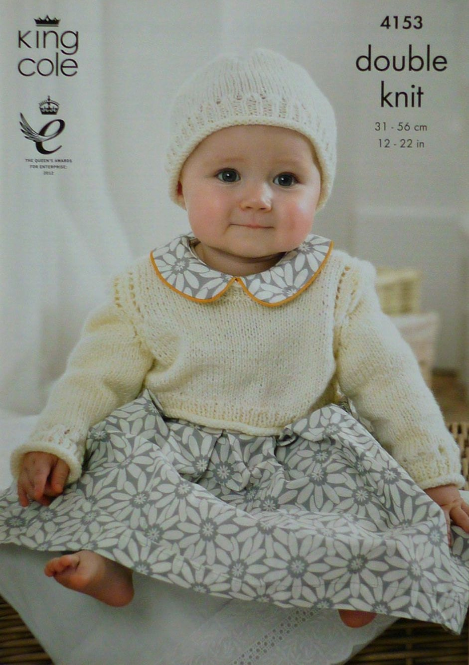 Baby Knitting Pattern K4153 Babies Long Sleeve Cropped ...