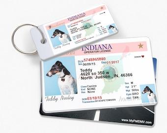 Indiana Dog Tag Etsy