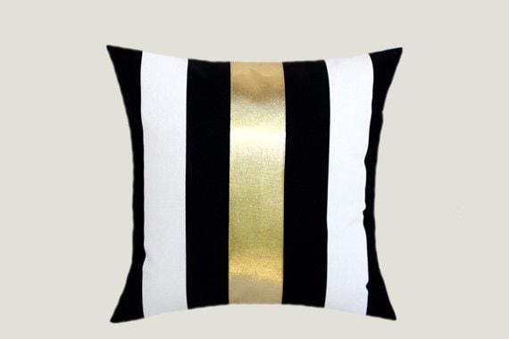 Decorative Pillow Case Cotton Black-White Throw pillow case