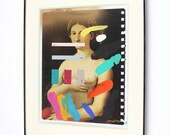 Composition 540 - mixed media work by Chad Wys - framed