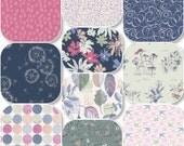 Pick Size Rag Quilt - Sketchbook - Navy Pink King Queen Full Twin xl Throw - Handmade Bedding