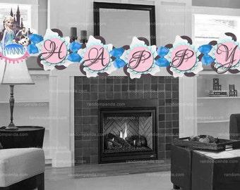 Personalize Frozen Party Banner, Printable Frozen Elsa Birthday Banner