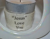 Candle Holder with the Saying (Jesus Love You)