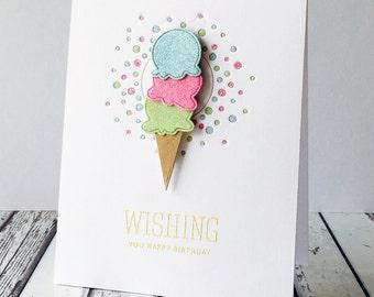 Confetti Ice Cream Card