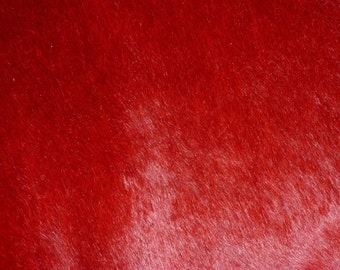 """Hair On Leather 8""""x10"""" Blood RED / Dark Red Marbled Hair-On Cowhide 4.5-4.75 oz / 1.8-1.9 mm PeggySueAlso HOH"""