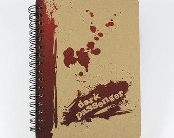 "Small Notebook ""Dark Passenger"" Pocket Size Notebook, Dexter Inspired"