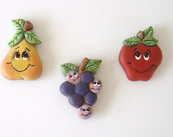 Magnets, refrigerator magnets, fruit magnets, ceramic magnets
