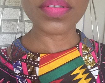 Kenya multi fabric statement bib