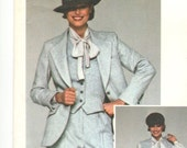 Calvin Klein jacket, skirt, pants, vest & blouse pattern -- Vogue American Designer 1369