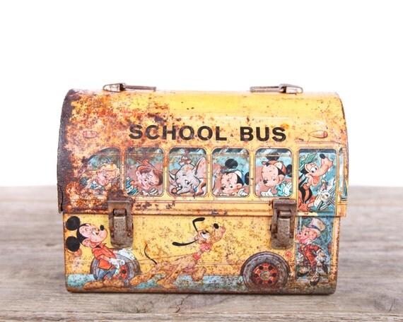 Bat Bus 12 >> Vintage Disney School Bus Lunch Box / Walt Disney Metal
