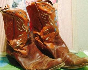 Cowboy Boots ACME Size 10 women 8-9 men AS IS