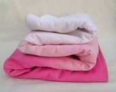 Organic Baby Blanket, Hand-dyed GOTS Certified Organic Cotton Sateen - 500 Thread Count - 30 X 35 inches