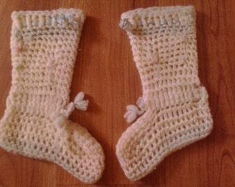 40s crochet baby booties