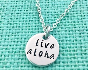 Live Aloha Hawaiian Pendant Necklace