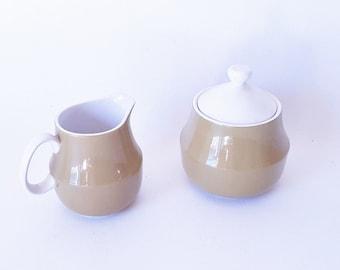 Midcentury Covered Sugar Creamer Set Vintage China Serving Dinnerware Esperanto Guild China Gift under 30 Modern Decor China
